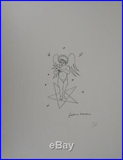 Jean MARAIS L'ange à l'étoile, Lithographie signée