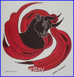 Jean MARAIS Zodiaque, le Taureau Lithographie Signée