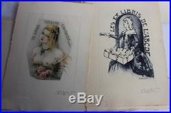 Jean MORISOT plaquette 20 compositions ex libris érotique 1955 (39515)