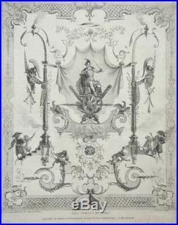 Jean Moyreau. Eau-forte d'après Watteau. Les Singes de Mars. 1729