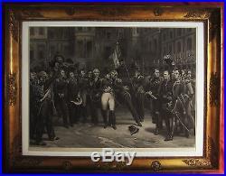 Jean Pierre Marie Jazet Horace Vernet Adieux De Fontainebleau Gravure Napoleon