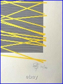 Jesus Rafael Soto Original Silk Sceen Handsigned