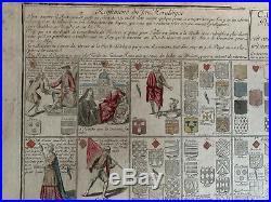 Jeu De L'oie Silvestre 1775 Carte Methodique Pour Apprendre Aisement Le Blason