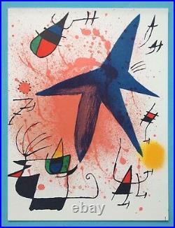 Joan MIRO (1893-1983) Lithographie Originale I 1972 Abstrait Mourlot 857 (46ans)