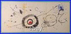 Joan MIRO Grande Lithographie authentique de 1963 garantie 55ans Maeght Art