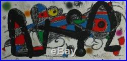 Joan MIRO Lithographie sur velin signée 1974 art abstrait abstraction