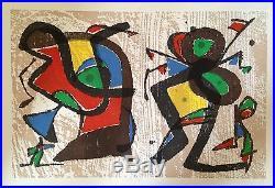 Joan Miro gravure originale sur velin abstraction art abstrait Miro Graveur