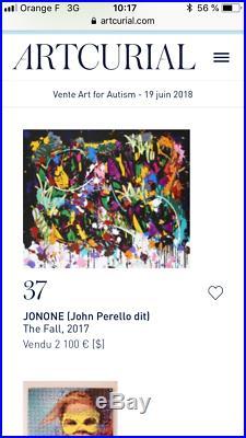 JonOne 2017 27 couleurs Signée / numérotée (no Whatson / invader)