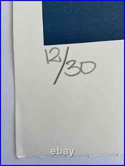 Jonone, Signé Main, Litho 12/30, 37x56cm, Estampe Sur Papier Blanc, Street art