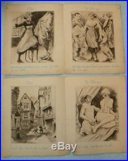 LAPSUS LINGUAE 34 Eaux-Fortes de Léon Courbouleix gravures érotiques Curiosa