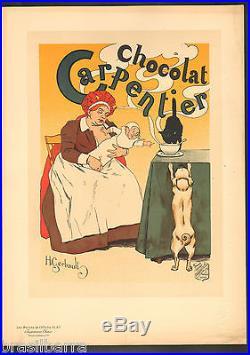 LES MAITRES DE L'AFFICHE H. Gerbault Chocolat Carpentier Lithographie 1897