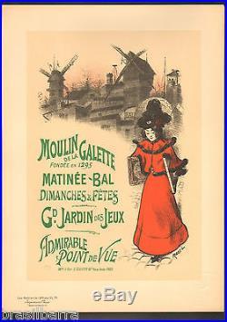 LES MAITRES DE L'AFFICHE Roedel Moulin de la Galette Lithographie 1897