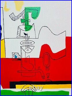 LE CORBUSIER Totem SIGNED LITHOGRAPH