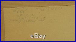 LE COUPLE ET L'AMOUR lithographie originale de MARCEL-LENOIR (1872-1931) signée