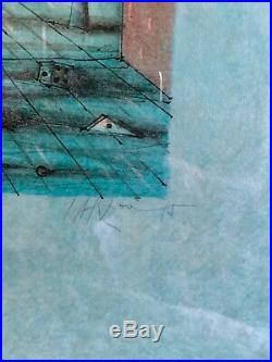 LITHOGRAPHIE, épreuve sur japon de Jean CARZOU, datée signée et numérotée