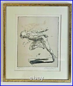 LITHOGRAPHIE signée et numérotée Claude WEISBUCH représentant un personnage