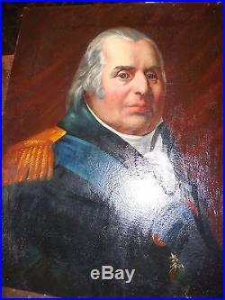 LOUIS XVIII roi des francais ds encadrement d, epoque