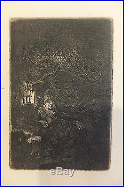 La Fuite en Egypte de Nuit, eau-forte, Harmensz Van Rijn Rembrandt (1606-1669)
