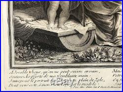 La Vierge Jésus sainte Anne saint Jean Baptiste Claude Duflos Très rare