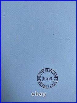Le Corbusier Les Des Sont Jetes Lithographie Signed