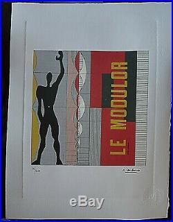 Le Corbusier / Lithographie + Certificat