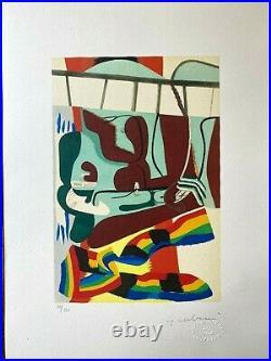 Le Corbusier Ouvre Plastique Signed Lithograph