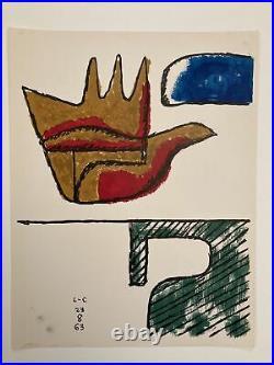 Le Corbusier la main ouverte lithographie