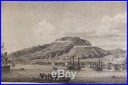 Le Fort Saint-Pierre dans l'Isle de la Martinique, vu du Mouillage gravure 1780