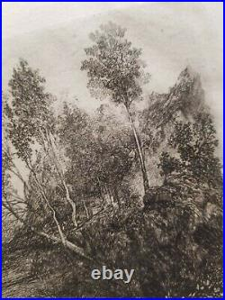Le cours d'eau. (1880) Rodolphe BRESDIN. (Paysage)