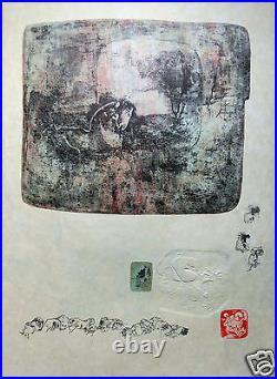Lebadang Dang Lithographie Originale Signee Du Tampon Et Estampee Superbe