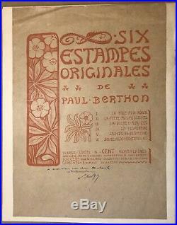 Les 6 Vierges Lithographies Originales PAUL BERTHON Art Nouveau Symboliste 1902