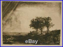 Les Trois Arbres De Rembrandt Van Rijn Héliogravure Amand-durand 1885