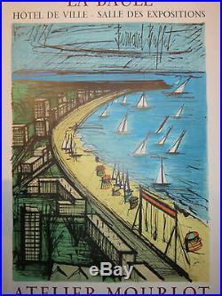 Litho Affiche exposition du peintre BERNARD BUFFET, époque 20ème