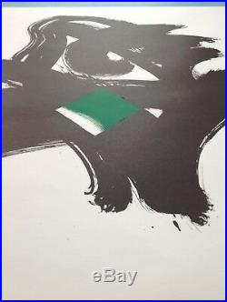 Lithographie 1993 Signée Abstrait Pierre Hans Hartung Soulages Jacques Germain