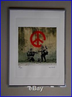 Lithographie Banksy Peace Tirage 300 Ex Street Art Graffiti