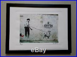 Lithographie Banksy Police. Tirage 300 Ex Street Art Graffiti