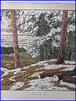 Lithographie Henri Riviere La Foret Serie Les Aspects De La Nature 1898 C2634