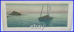 Lithographie Henri Riviere Le Soleil Couchant La Feerie Des Heures 1901 M227