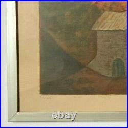 Lithographie Louis Toffoli Dans La Foret Contre Signe Numerote 56 Sur 125 B3030