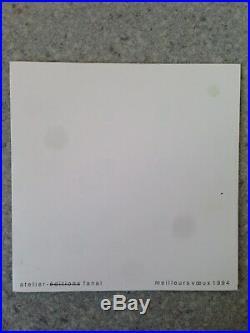 Lithographie Originale Aurélie Nemours (1910-2005) Carte Voeux Opt-Art Optique