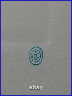 Lithographie Originale De Jean Cocteau, Arlequin, cachet d'atelier, numérotée