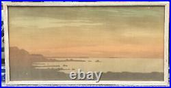 Lithographie Originale Paysage Normandie Paul Berthon 1900 Art Nouveau Cadre