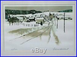 Lithographie Originale Pierre Bichet Les Villedieu Doubs Franche-Comté