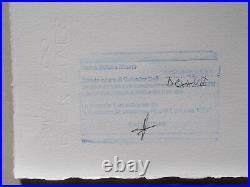 Lithographie, Salvador Dali Portrait de Marie Sigall signée et numérotée