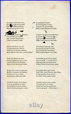 Lithographie, Toulouse-Lautrec ADOLPHE ou le Jeune Homme triste-1894-M. Donnay