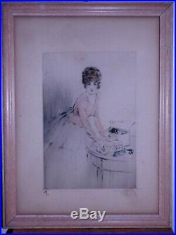Lithographie art deco louis icart eau forte