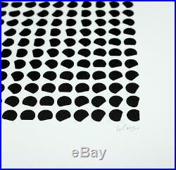 Lithographie de JULIO LE PARC Instabilité Signée /50 OP ART GRAV