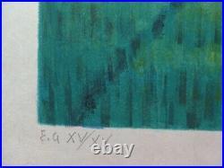 Louis TOFFOLI Buffles dans un rizière LITHOGRAPHIE ORIGINALE #Signée crayon