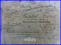 Lourde pierre lithographique d' imprimerie thème nologie bourgogne 12 kg