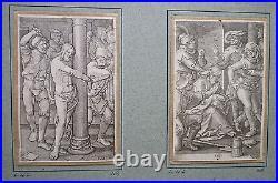Lucas van LEYDEN (1494-1533) 6 gravures 1521 La Passion/collection Dalbanne